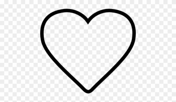 Heart Shaped Icon - Love Heart Outline Tattoo png image transparent background