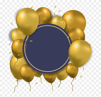 Balloon Gold Computer File - Gold And Blue Balloons Png png image transparent background