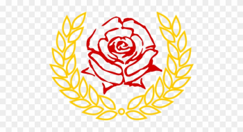 Red Rose In Laurel Wreath Vector Clip Art - International Women's Day Bread And Roses png image transparent background