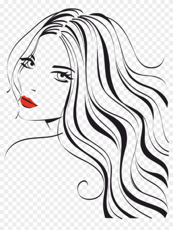 Woman Beauty Parlour Clip Art - Girl Long Hair Logo png image transparent background