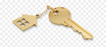 Gold House Key Png png image transparent background