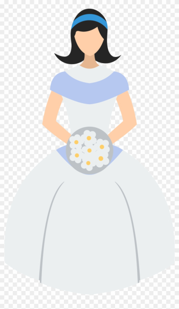 Bride Contemporary Western Wedding Dress Illustration - Bride Contemporary Western Wedding Dress Illustration png image transparent background