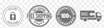 The Baking Bit Worry-free Guarantee - Free Shipping Badge Shopify png image transparent background