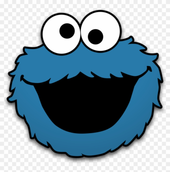 Cookie Monster Clip Art Cookie Monster By Neorame D4yb0b5 - Sesame Street Cut Out Faces png image transparent background