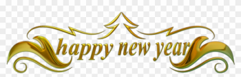 Happy New Year Border png image transparent background
