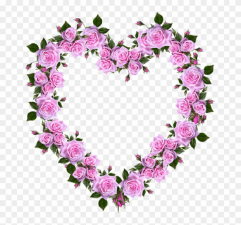 Roses, Heart, Romance, Valentine, Decoration - Real Pink Roses Hearts png image transparent background