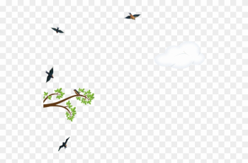 Tree With Crows Cloud - Tree png image transparent background
