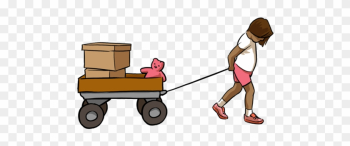 Cart Clipart Pulled - Girl Pulling A Toy Car png image transparent background