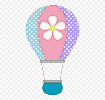Gd Ss Hot Air Balloon - Purple Elephant Baby Shower png image transparent background