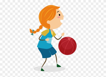 Wall Color - Cartoon Girl Playing Basketball Png png image transparent background