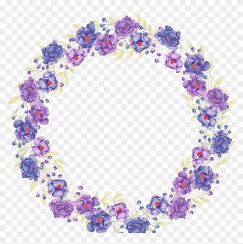 Purple Flowers Hq Pictures - Watercolor Flower Purple Flower Frame png image transparent background