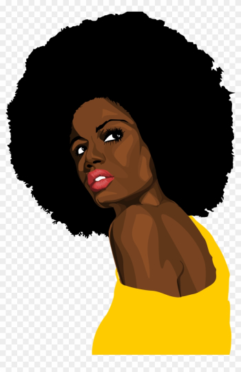 Related Black Woman Clipart Png - Black Woman Afro Png png image transparent background