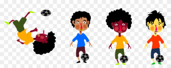 Kids Playing Soccer Hi - Body Kinesthetic Intelligence Examples png image transparent background