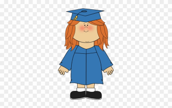 Girl Wearing Graduation Cap And Gown Clip Art - Preschool Graduation Clip Art png image transparent background
