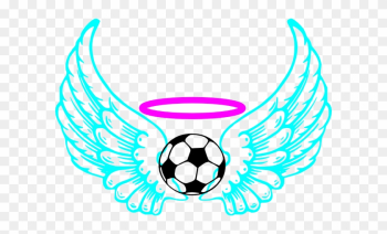 Blue Winged Soccer Ball Clip Art - Draw A Soccer Ball With Flames png image transparent background