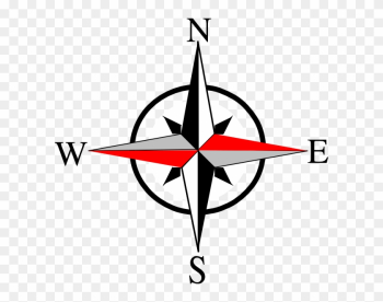 Compass North Clipart - North East South West png image transparent background