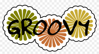 Groovy Svg - Groovy With Flowers Shower Curtain png image transparent background