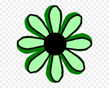 Green Flower Clip Art - Clipart Of A Yellow Flower png image transparent background