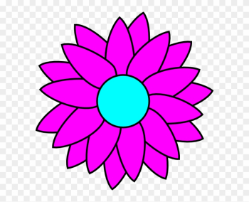 Simple Flower Coloring Pages png image transparent background