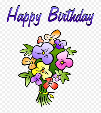 Happy Birthday Flowers Icon, Png Clipart Image - Happy Birthday Flowers Clip Art png image transparent background