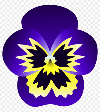 Purple And Yellow Pansy Flower - Pansy Flower Clipart png image transparent background