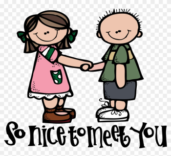 Clipart Meeting People - Nice To Meet You png image transparent background