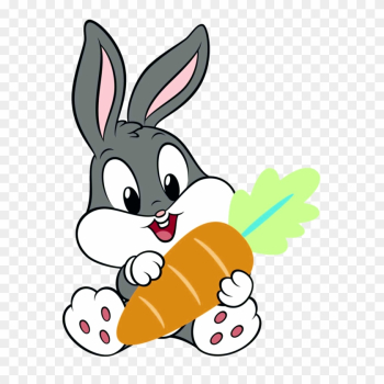 Bunny Baby Carrot Little Cute Animals Animal Animales - Baby Looney Tunes Bugs Bunny png image transparent background