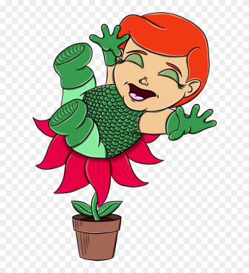 Poison Ivy Baby By Themightyrohrer - Poison Ivy As A Baby png image transparent background