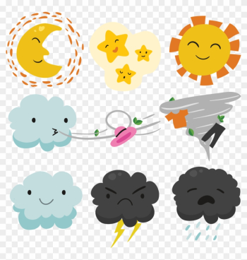 Weather Forecasting Euclidean Vector Wind - Cute Clouds png image transparent background