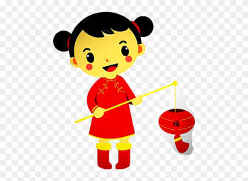 Little Chinese Girl Cartoon png image transparent background