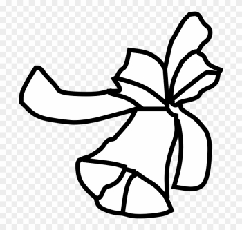 Wedding Bell Clipart 10, - Christmas Bell Outline png image transparent background