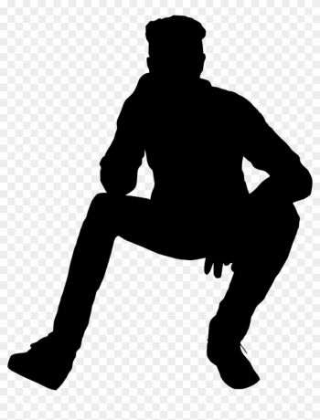 Silhouette Of A Person Sitting - People Sitting Silhouette Png png image transparent background