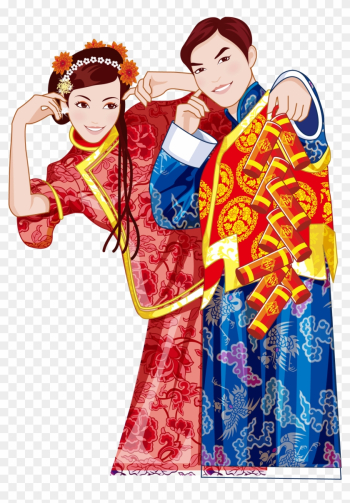 Chinese Traditional Bride And Groom - Firecracker png image transparent background