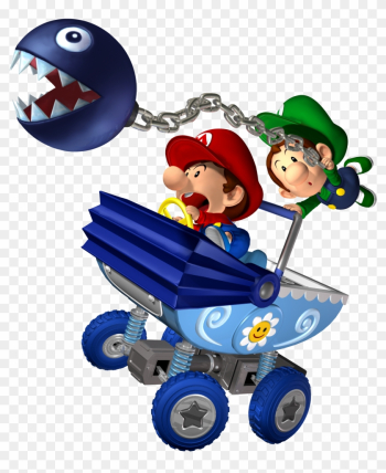 Babies And Chain Chomp - Mario Kart Double Dash Baby Mario png image transparent background