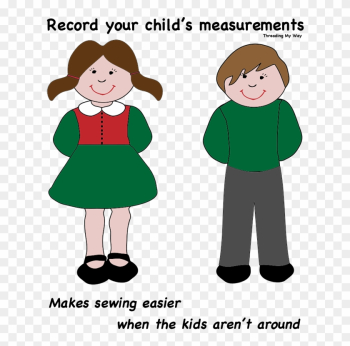 Record Measurements For Your Child On This Handy Template - Clip Art Boy And Girl png image transparent background