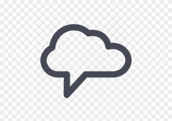 Free Multimedia Icons - Cloud Chat Png png image transparent background