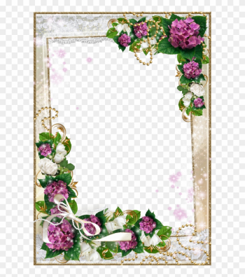 Download Frame Foto Lucu Dan Bagus - Rover Com Flower Frames Png png image transparent background