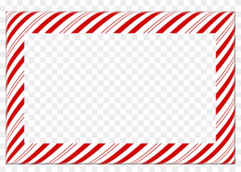 Candy Cane Christmas Borders And Frames - Candy Cane Stripe Border png image transparent background