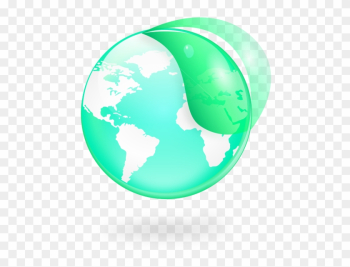 Environmental / Eco Globe & Leaf Icon Png Images - Latin American Social Sciences Institute png image transparent background