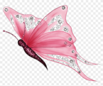 Butterfly Nature Pink Glitter Shimmer Sparkle Butterfly - Mariposas Png png image transparent background
