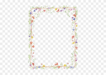 Flowers Borders Png Transparent - Free Flower Borders For Word Document png image transparent background