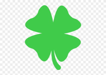 Four Leaf Clover Emoji For Facebook, Email Amp Sms - Clover png image transparent background