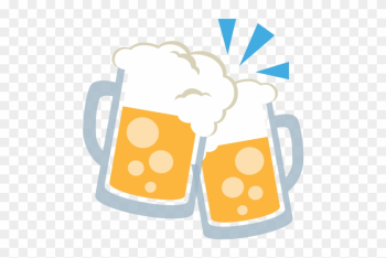 Clinking Beer Mugs Emoji Vector Icon - Beer Cheer Lets Day Drink Mode On T Shirt For Lover png image transparent background