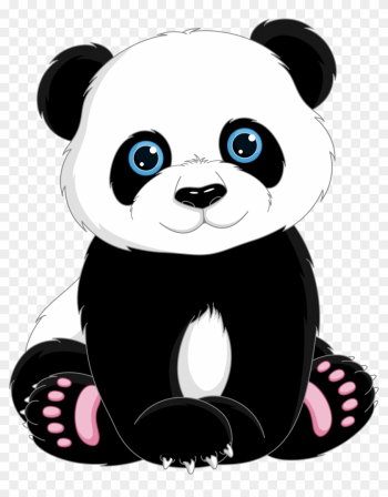 Giant Panda T-shirt Cuteness Clip Art - Cute Cartoon Panda Bear png image transparent background