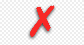 Wrong - Wrong Cross Transparent Background png image transparent background