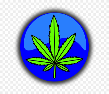 Free Vector Graphic Cannabis Marijuana Leaf Symbol - Cannabis png image transparent background