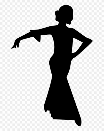 Flamenco Female Dancer Silhouette Comments - People Silhouette Dancing png image transparent background