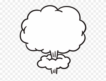 Mushroom Cloud Cartoon Explosion - Thinking Text png image transparent background