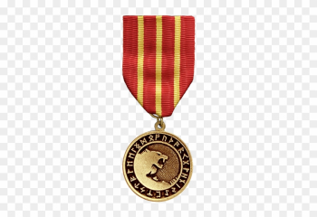 This Medal Can Be Awarded Military And Civilian Personnel - Nordic Wolf Necklace png image transparent background