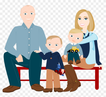 3 To 5 People Cartoon Family Drawing ~ Custom Illustration - Family Png Cartoon png image transparent background